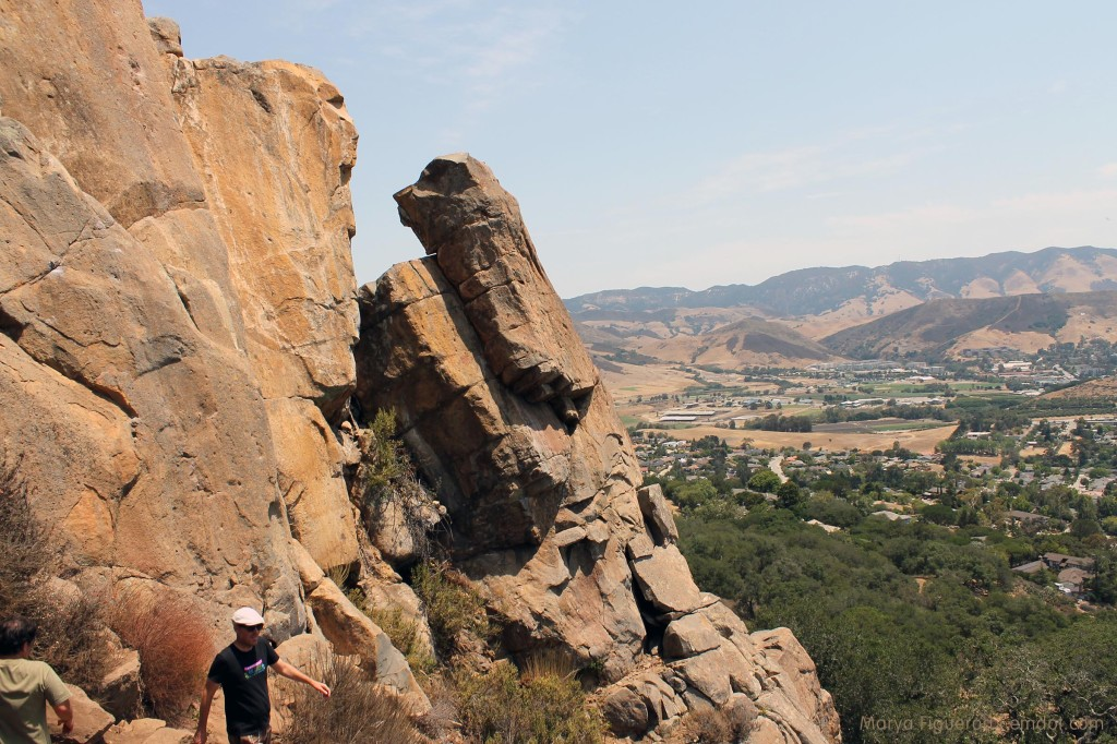 Bishop Peak rock to valley