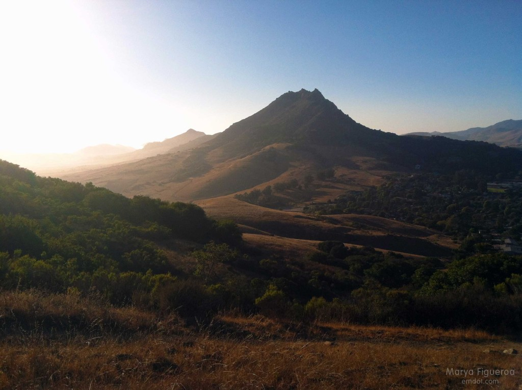 Looking at Bishop Peak from Cerro San Luis