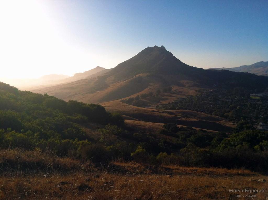 Looking at Bishop Peak from Cerro San Luis