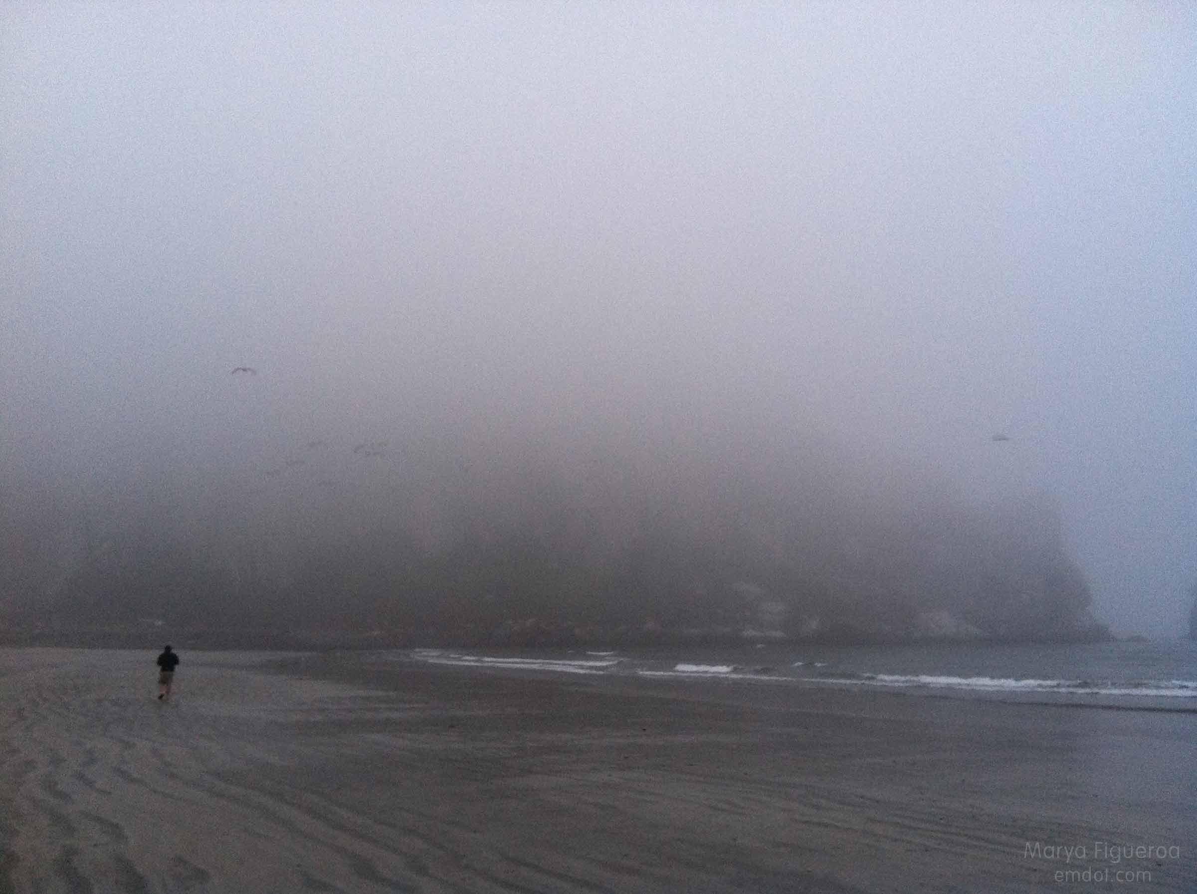 foggy rock