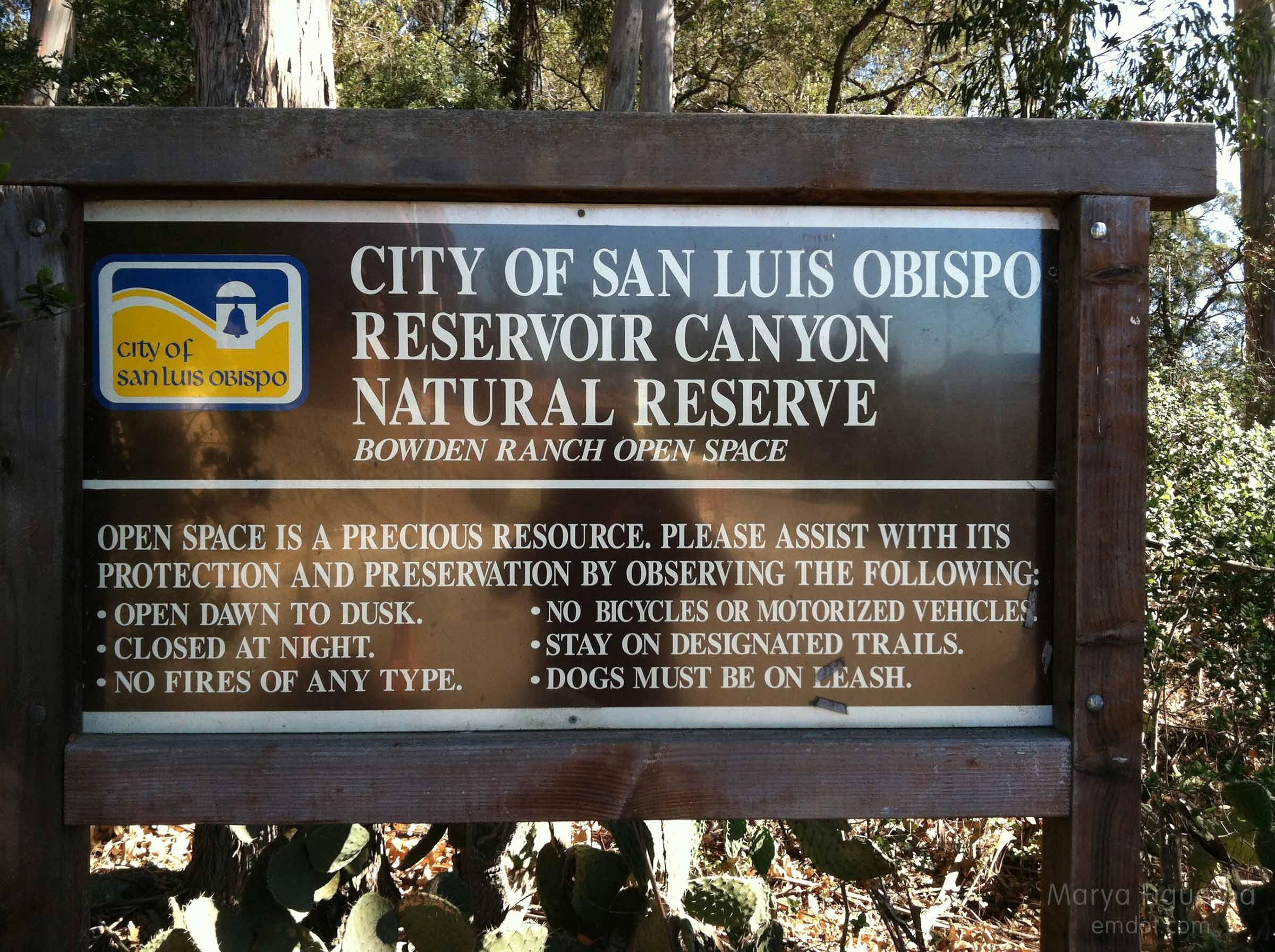 resevoir canyon natural reserve