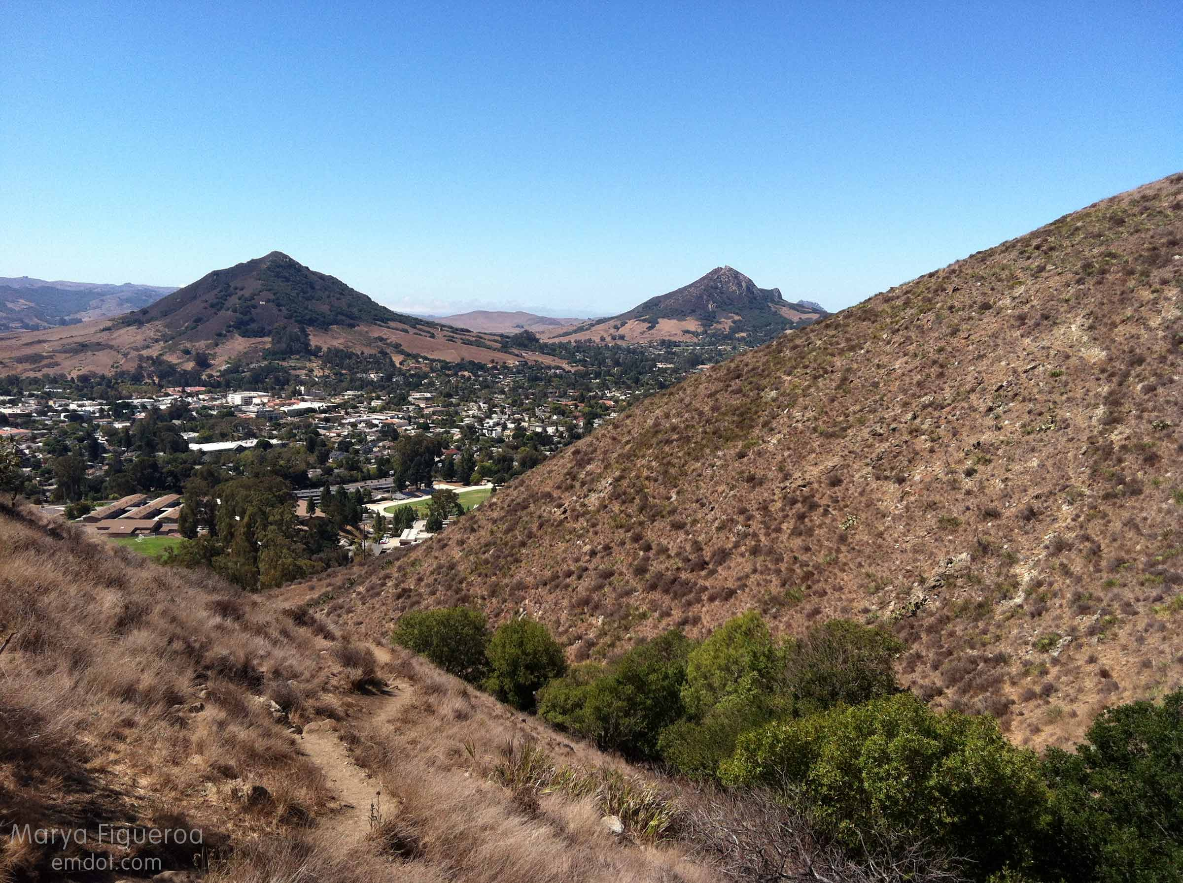 looking out -- seeing cerro san luis and bishop peak