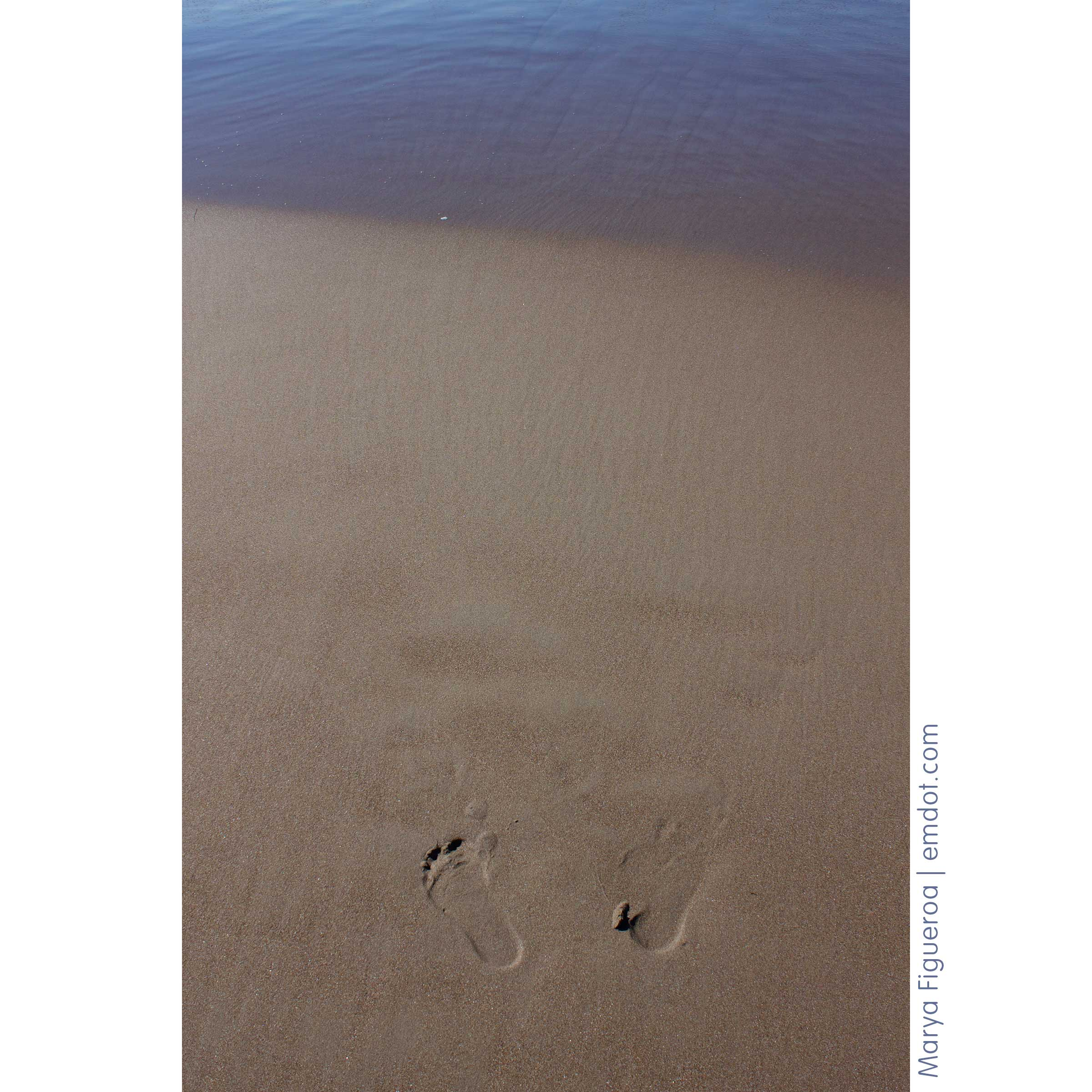 my foot prints in the sand