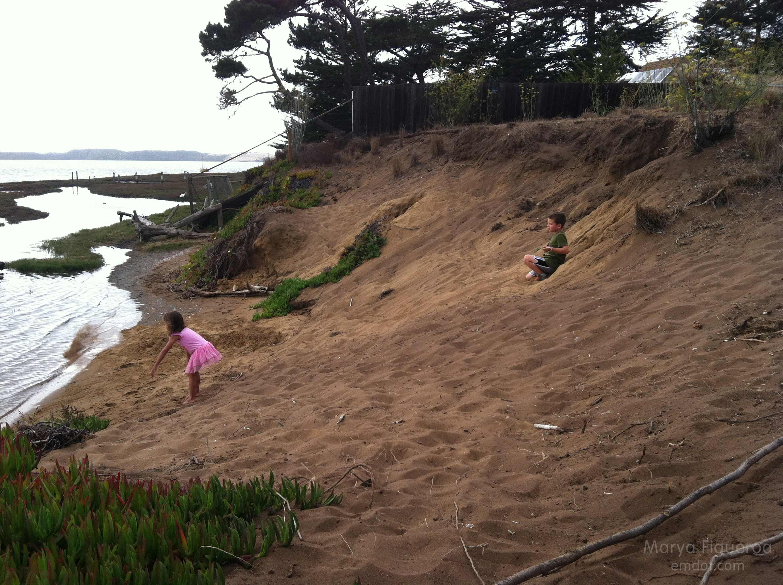 playing in the little dune