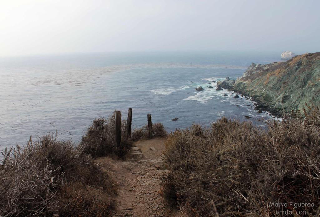 Trail, cliff edge