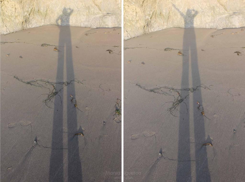 long, tall beach shadow