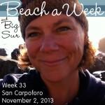Me, Week 33 at the beach